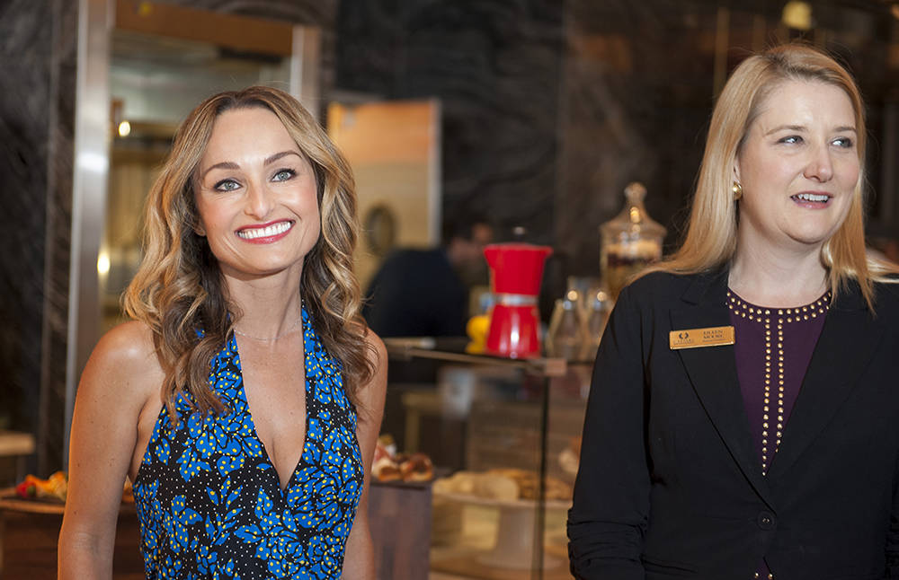 From left, celebrity chef Giada De Laurentiis and Eileen Moore, president of The Cromwell, Linq and Flamingo for Caesars Entertainment. (Mark Damon/Las Vegas News Bureau)