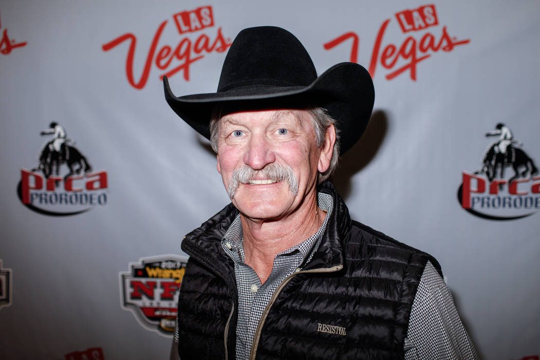 Karl Stressman, commissioner of the Professional Rodeo Cowboy Association, of Tucson, Ariz., 67, poses for a portrait at the end of the third night of the 59th Wrangler National Finals Rodeo at th ...