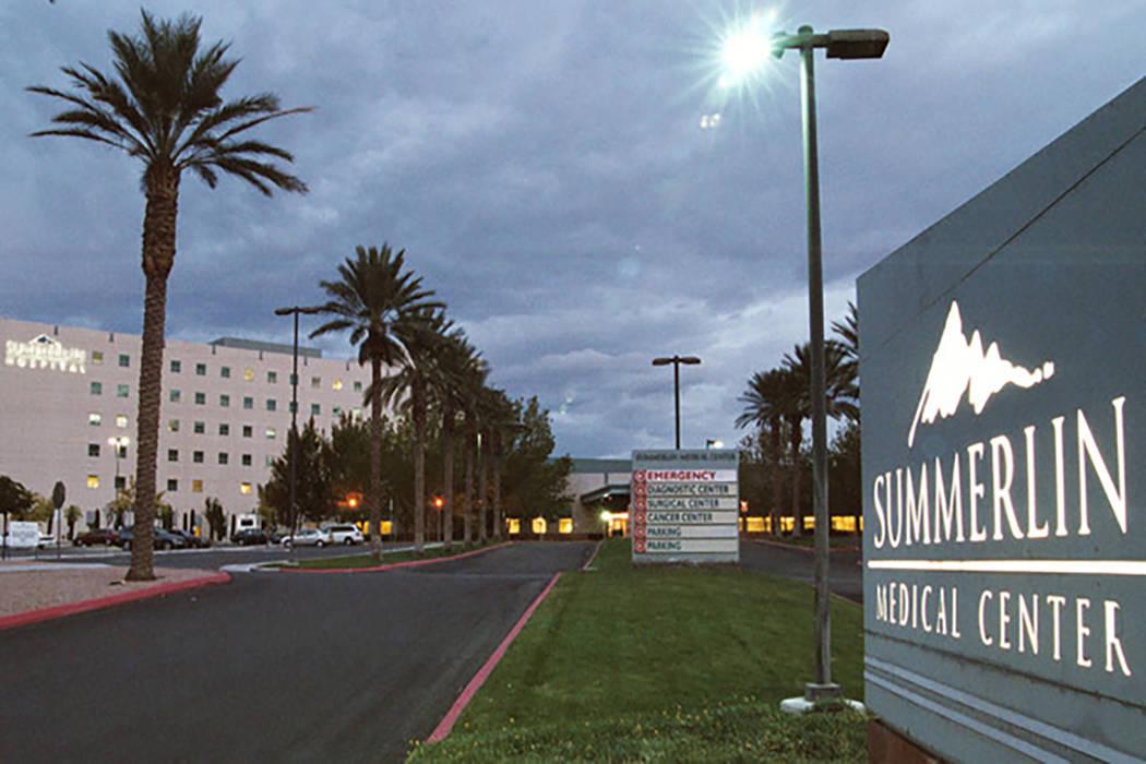 Summerlin Hospital Medical Center (Las Vegas Review-Journal file)