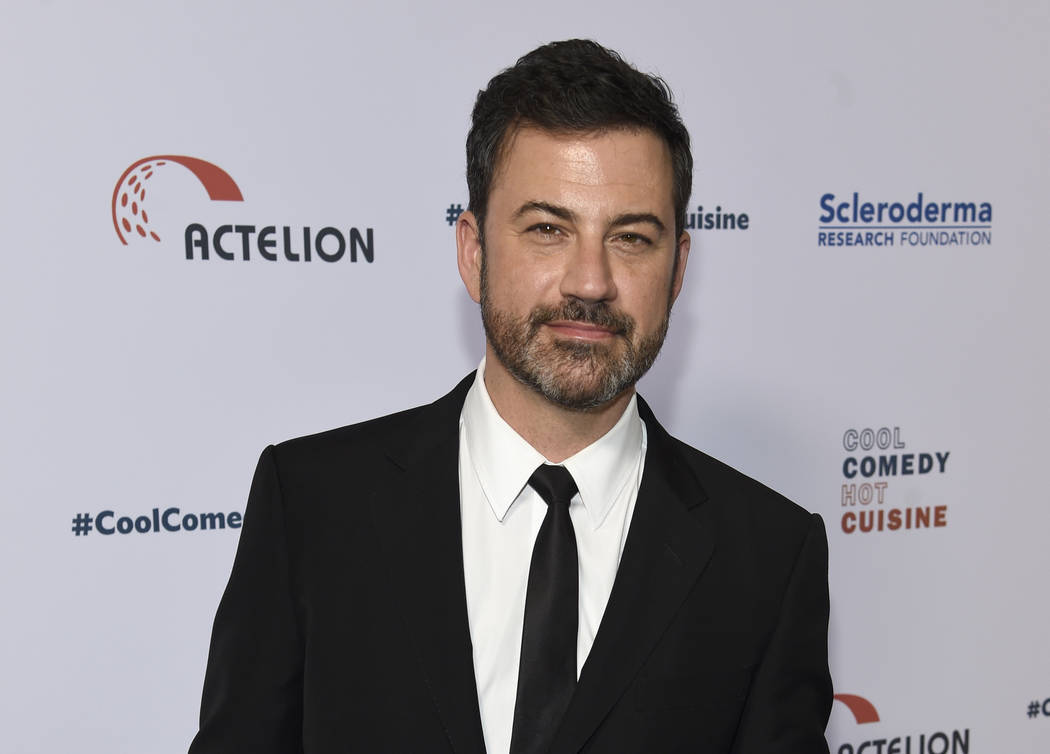 FILE - In this June 16, 2017, file photo, Jimmy Kimmel attends the 30th annual Scleroderma Foundation Benefit at the Beverly Wilshire hotel in Beverly Hills, Calif. Kimmel's 7-month-old son has ha ...