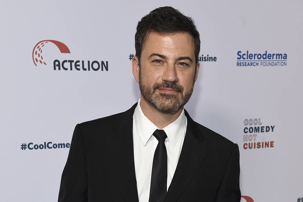 In this June 16, 2017, file photo, Jimmy Kimmel attends the 30th annual Scleroderma Foundation Benefit at the Beverly Wilshire hotel in Beverly Hills, Calif. Kimmel's 7-month-old son has had a suc ...