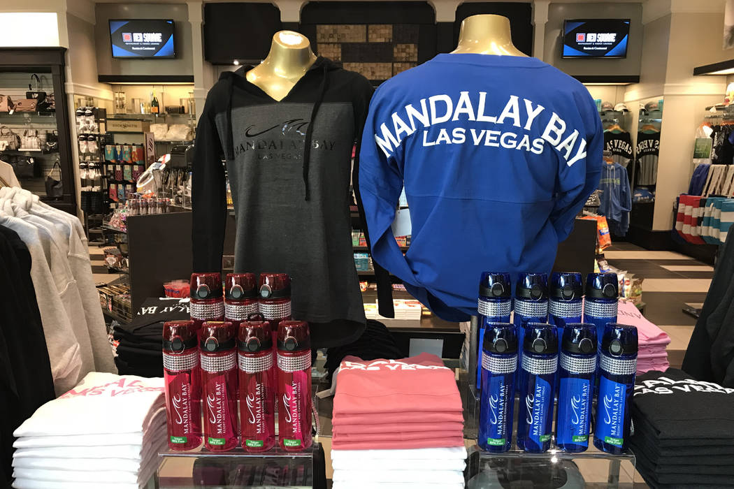 Mandalay Bay clothing for sale at Mandalay Bay in Las Vegas, Tuesday, Nov. 28, 2017. Bridget Bennett Las Vegas Review-Journal