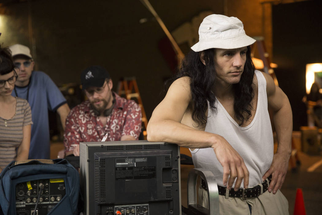 "Tommy Wiseau (James Franco) directs a scene from ""The Room"" in a scene from ""The Disaster Artist."" Photo by Justina Mintz, courtesy of A24"
