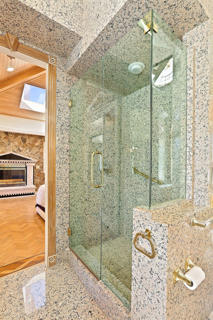 The master bath features a large shower. (Luxury Estates International)