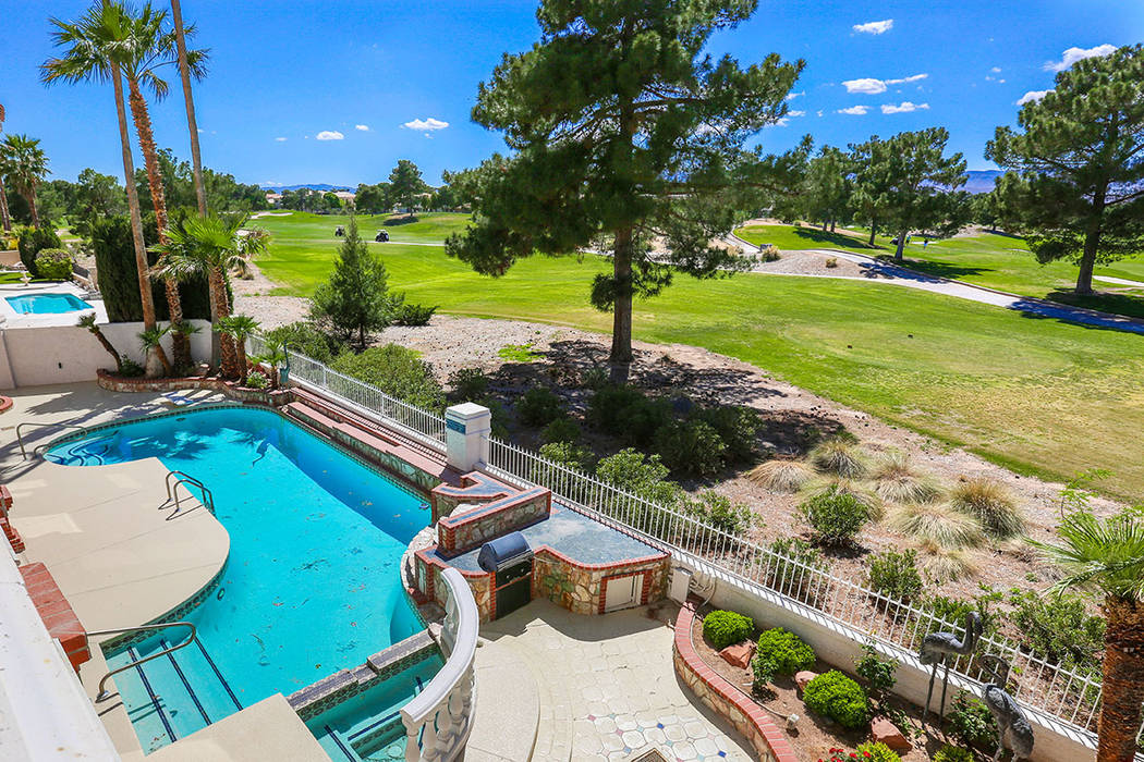 The home sits on the Spanish Trail Championship Golf Course. (Luxury Estates International)