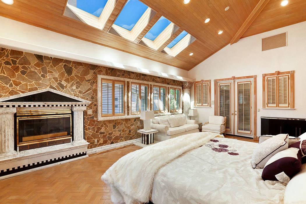 The master bedroom features skylights. (Luxury Estates International)
