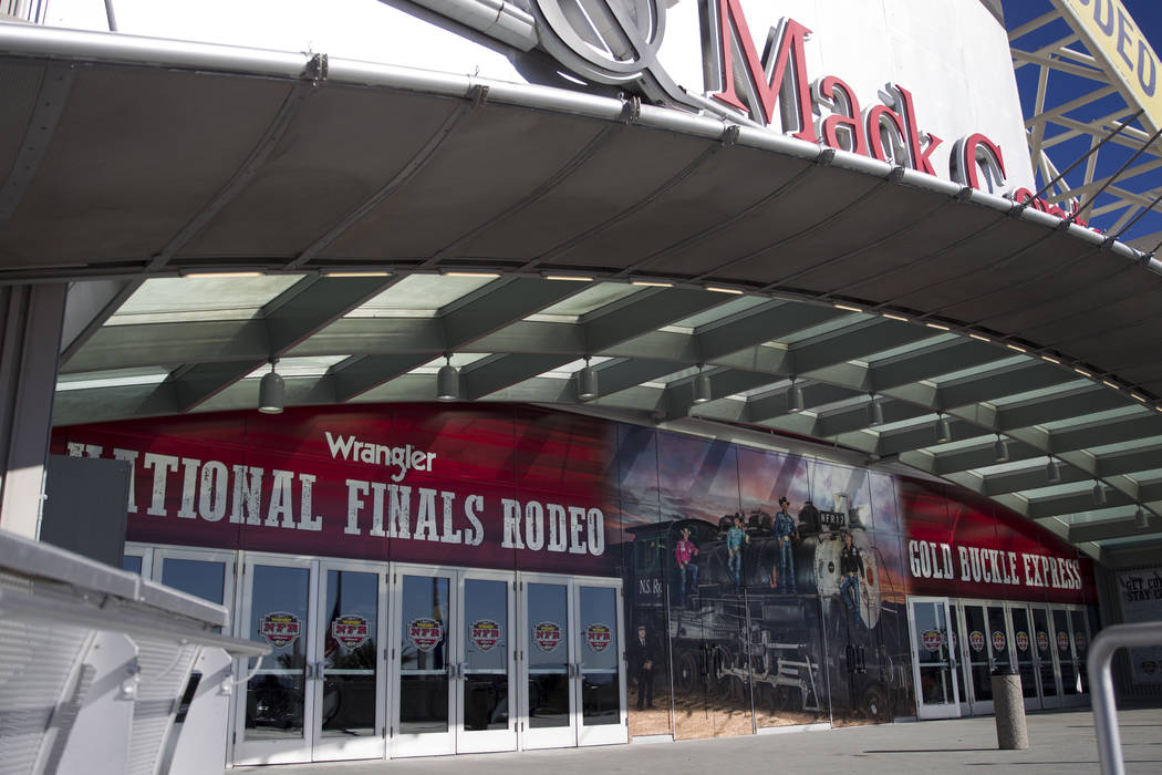 The Thomas & Mack Center in Las Vegas, Wednesday, Dec. 6, 2017. The National Finals Rodeo starts Thursday. Erik Verduzco Las Vegas Review-Journal @Erik_Verduzco