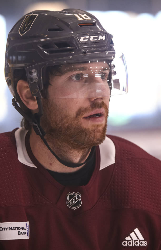 Vegas Golden Knights left wing James Neal (18) on the ice during the NHL team's practice at the City National Arena in Las Vegas, Wednesday, Dec. 6, 2017. Richard Brian Las Vegas Review-Journal @v ...
