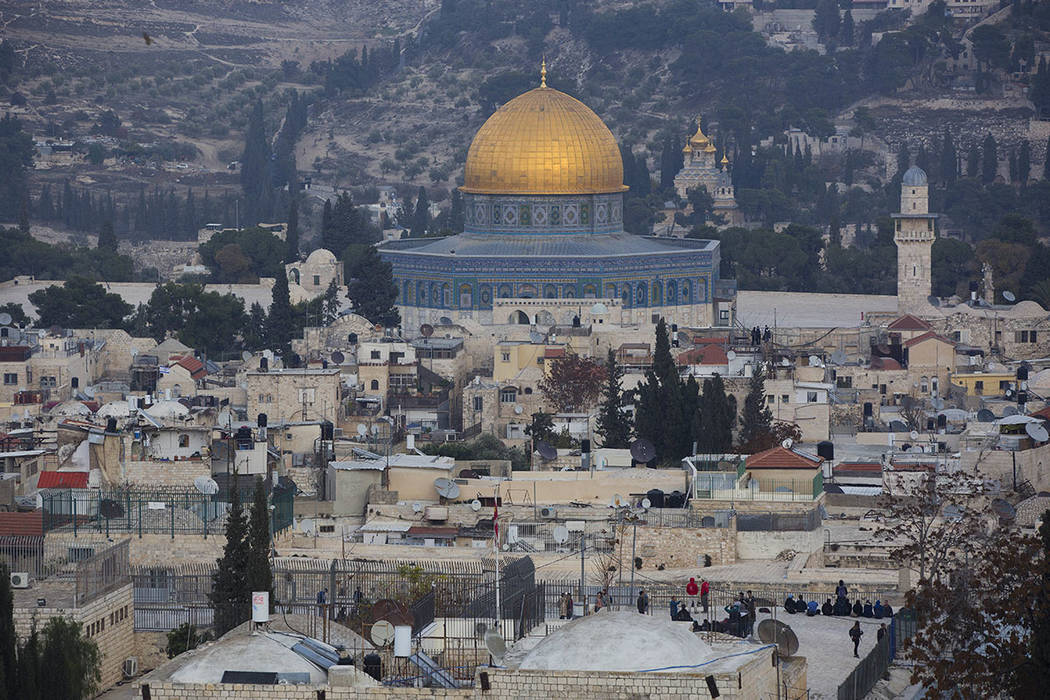 A view of Jerusalem's old city is seen Tuesday, Dec. 5, 2017. (AP Photo/Oded Balilty)