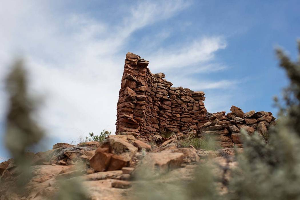 A 13th century masonry structure at an Ancestral Puebloan archaeological site know as Cave Towers is seen in Bears Ears National Monument in the Four Corners region, Utah, U.S. May 16, 2017. REUTE ...