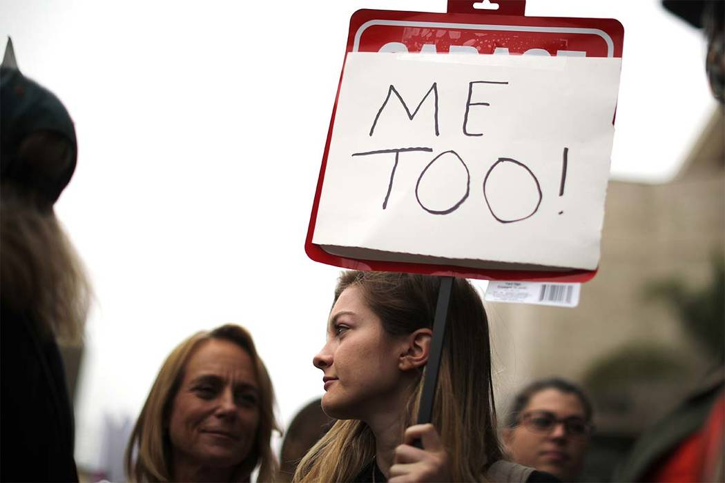 People participate in a protest march for survivors of sexual assault and their supporters in Hollywood, Los Angeles,  November 12, 2017. (Lucy Nicholson/Reuters)