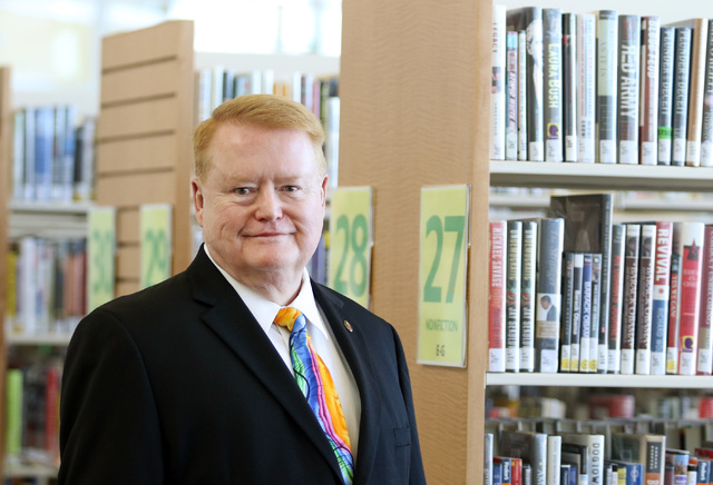 Ron Heezen, executive director of the Las Vegas-Clark County Library District, poses for a photo at Windmill Library Thursday, March 17, 2016, in Las Vegas. Ronda Churchill/Las Vegas Review-Journal