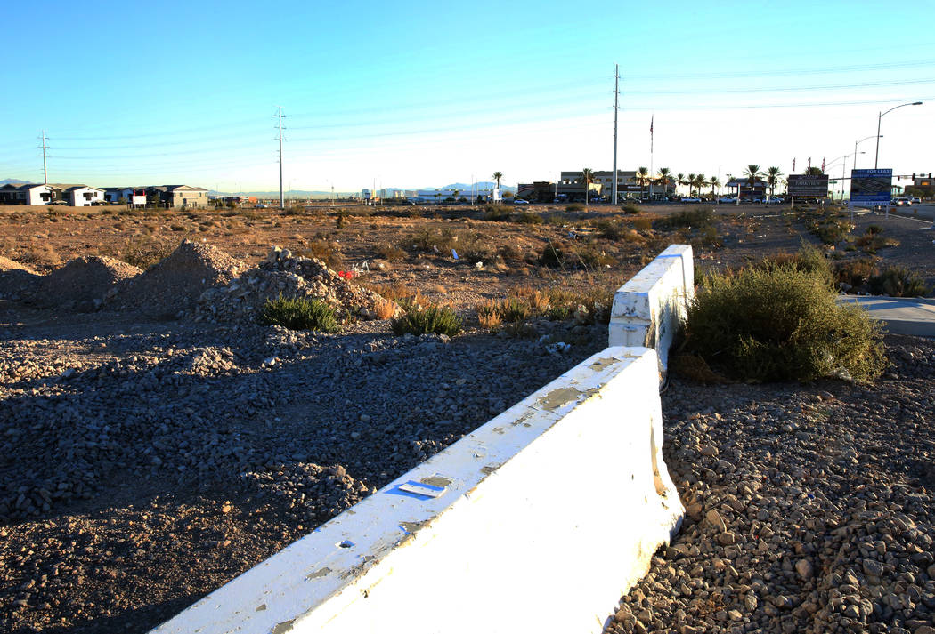 A retail and office complex is slated to be built on vacant land across from IKEA on Sunset Road and Durango Drive, pictured on Dec. 7, 2017 in Las Vegas. BizuayehuTesfayeLas Vegas Review-Jour ...