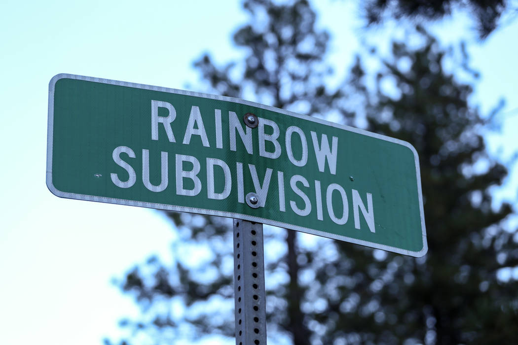 A sign indicating the Rainbow Division in Mount Charleston, Monday, Sept. 18, 2017. Joel Angel Juarez Las Vegas Review-Journal @jajuarezphoto