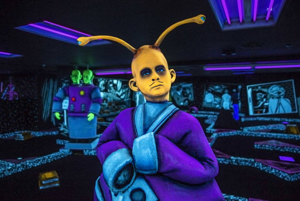 """The Twilight Zone by Monster Mini Golf"" on Wednesday, Dec. 6, 2017, at Bally's hotel-casino, in Las Vegas. Benjamin Hager Las Vegas Review-Journal @benjaminhphoto"