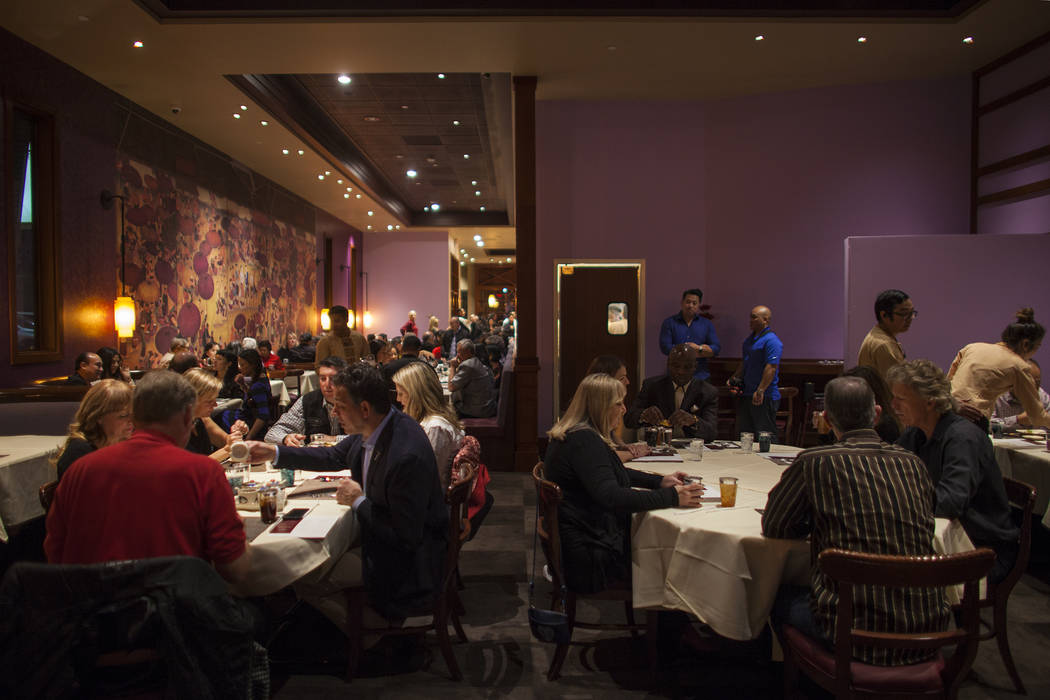 The dining room at the new second location of Lotus of Siam, a thai restaurant, in Las Vegas, Sunday, Dec. 10, 2017. The restaurant held a birthday party for Chef Saipin Chutima that also doubled  ...