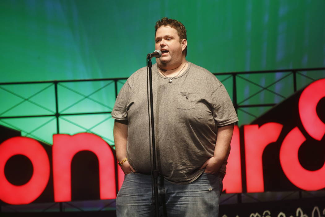 FILE - In this June 13, 2015 file photo, Ralphie May performs at the 2015 Bonnaroo Music and Arts Festival in Manchester, Tenn. A spokeswoman for Ralphie May says the comedian has died at age 45.  ...