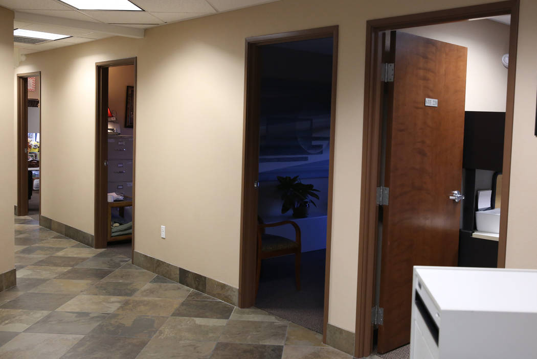 Offices for court advocates and private counseling at the new Safe Nest office and treatment center at 3900 Meadows Lane photographed on Thursday, Dec 7, 2017, in Las Vegas. The new location will  ...