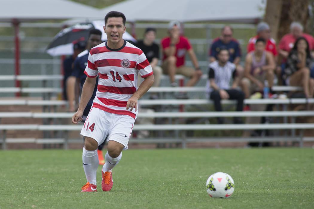 UNLV midfielder Julian Portugal plays against Howard on September 7, 2014 at UNLV. (Aaron Mayes/UNLV Photo Services)