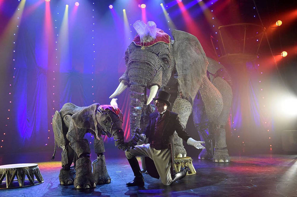 "Elephant puppets from ""Circus 1903 – The Golden Age of Circus"", a turn-of-the-century circus spectacular performing at Paris Las Vegas, will provide entertainment at Summerlin Festival of Ar ..."