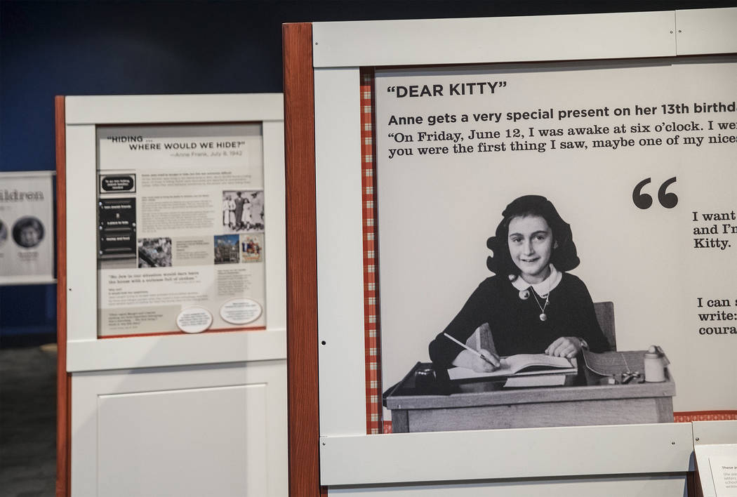 """The new Springs Preserve exhibit, """"The Power of Children"""" focuses on the impact of Anne Frank, Ruby Bridges and Ryan White on Wed., Dec. 13, 2017, in Las Vegas. Benjamin Hager Re ..."""