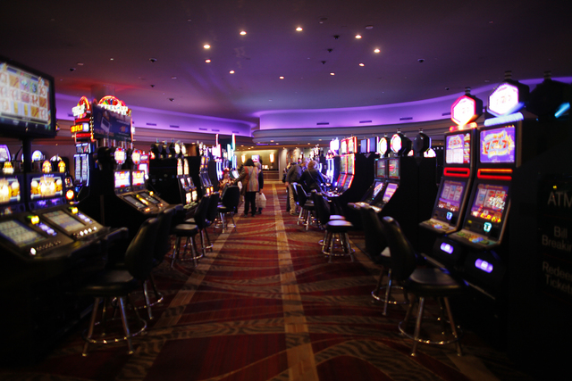 Slot machines at the Stratosphere's casino floor on Monday, Jan. 30, 2017, in Las Vegas. (Rachel Aston/Las Vegas Review-Journal) @rookie__rae