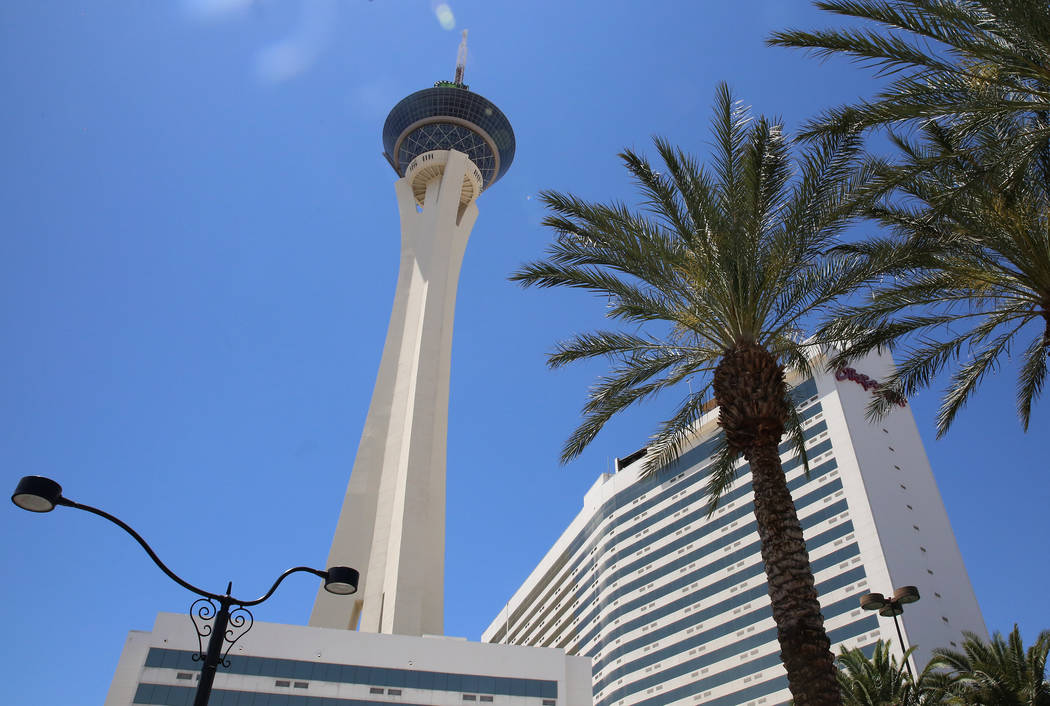 The Stratosphere hotel-casino in Las Vegas. (Bizuayehu Tesfaye/Las Vegas Review-Journal) @bizutesfaye