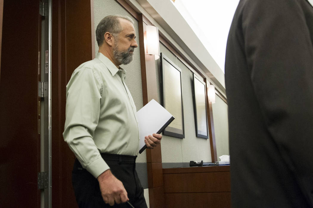 Former attorney Robert Graham, accused of swindling more than $16 million from clients, during his sentencing at the Regional Justice Center in Las Vegas, Friday, Dec. 8, 2017. Erik Verduzco Las V ...