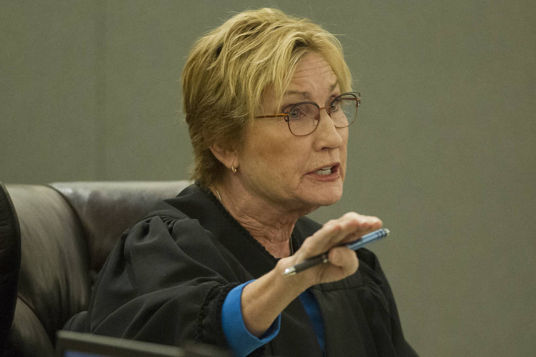 District Judge Kerry Earley during the sentencing of former attorney Robert Graham, accused of swindling more than $16 million from clients, at the Regional Justice Center in Las Vegas, Friday, De ...