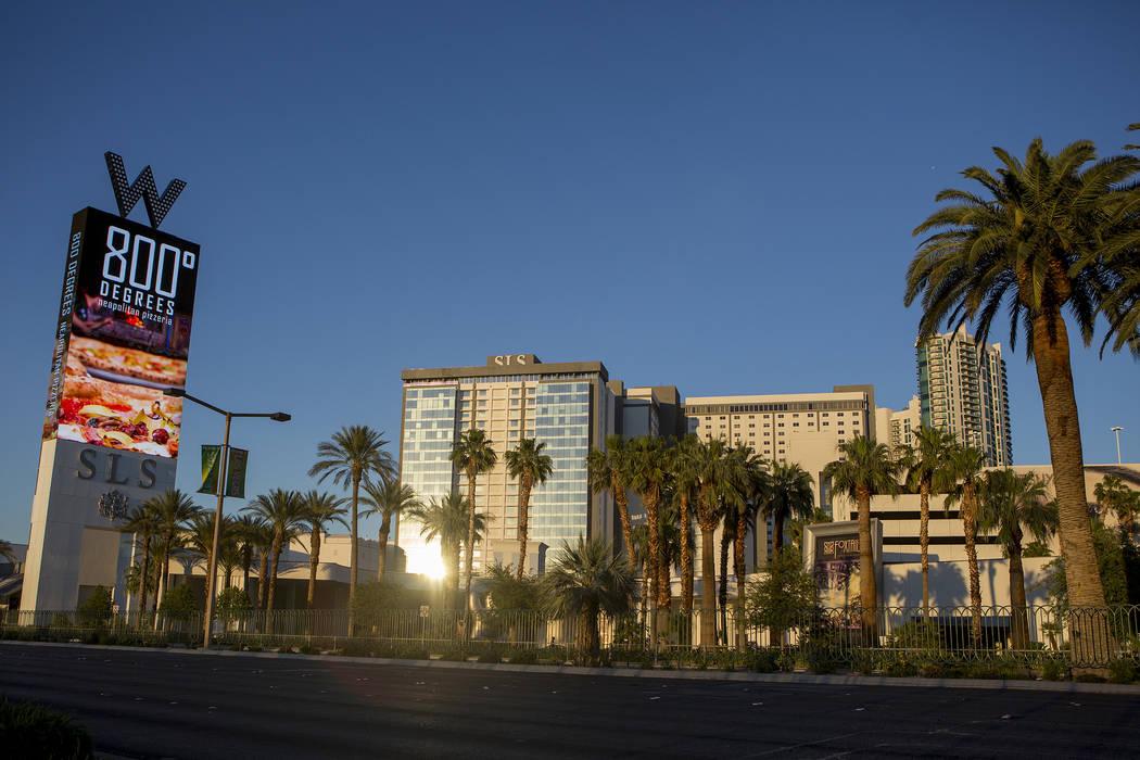 SLS Las Vegas, located on the Las Vegas Strip at West Sahara Avenue. (Bridget Bennett/Las Vegas Review-Journal) @bridgetkbennett