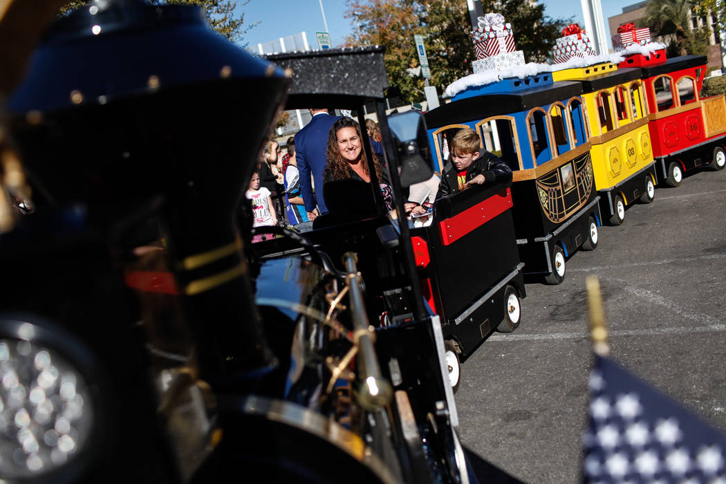 People ride a miniature train duringWinterFestoutside City Hall in Henderson, Saturday, Dec. 9, 2017. Joel Angel Juarez Las Vegas Review-Journal @jajuarezphoto