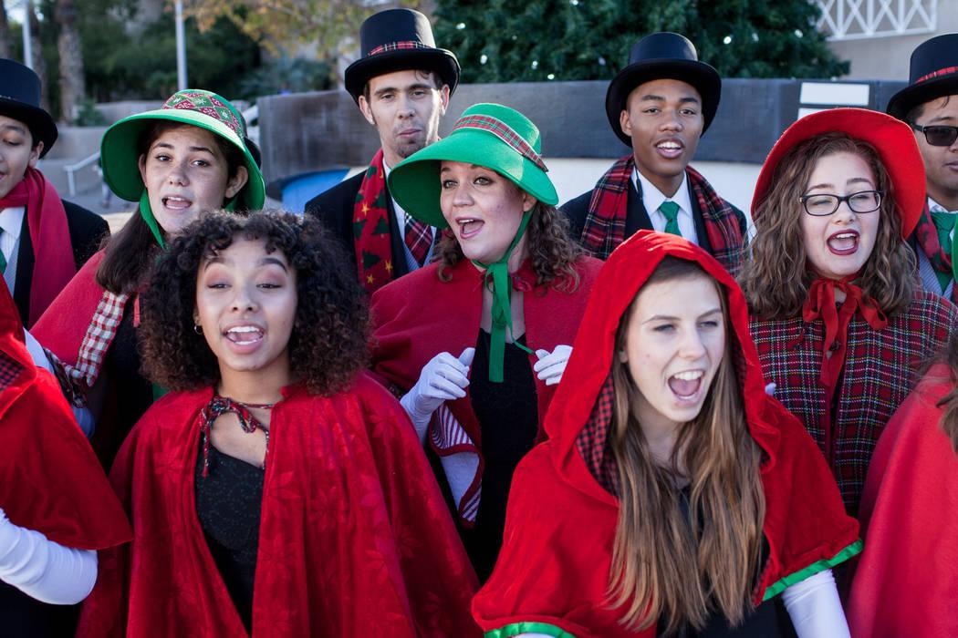 Basic High School Chamber Singers sing Christmas carols duringWinterFestoutside City Hall in Henderson, Saturday, Dec. 9, 2017. Joel Angel Juarez Las Vegas Review-Journal @jajuarezphoto