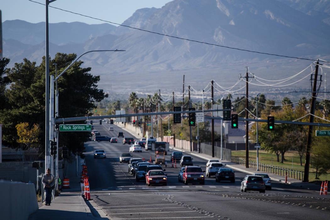 Vegas Drive near Woofter Family Park in Las Vegas, Friday, Dec. 8, 2017. Joel Angel Juarez Las Vegas Review-Journal @jajuarezphoto