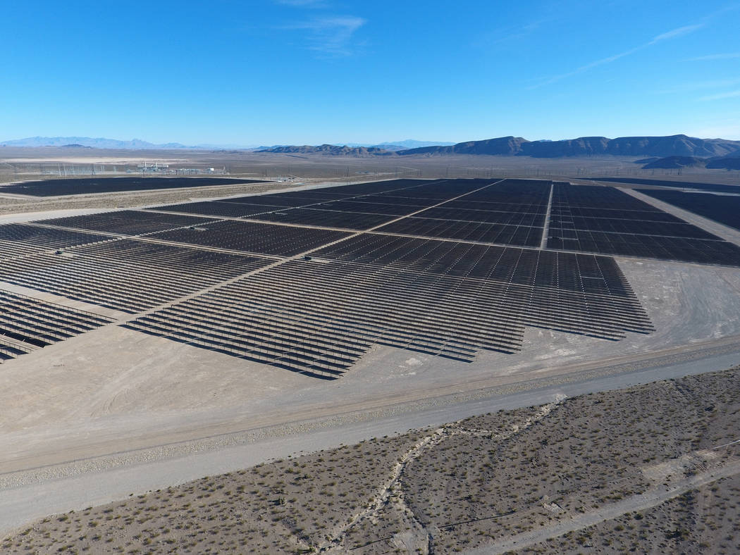 Completion of solar electric-generation array near Las Vegas marked