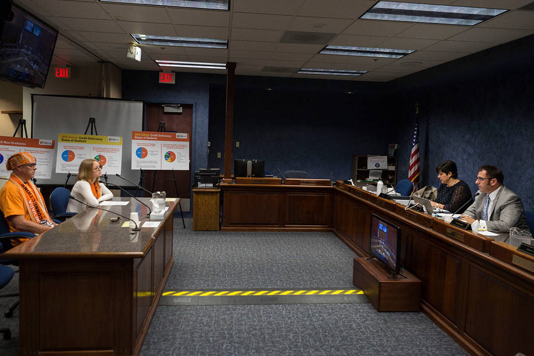 The State Public Charter School Authority meets at the Grant Sawyer Building in Las Vegas in this Aug. 2017 file photo. Elizabeth Brumley Las Vegas Review-Journal