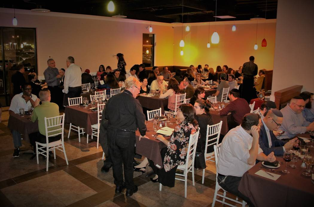 Guests dining at Ace of Steaks, a new kosher steakhouse and Persian restaurant in the southwest valley on Tuesday, Oct. 17, 2017. (Courtesy Ellie Edison)