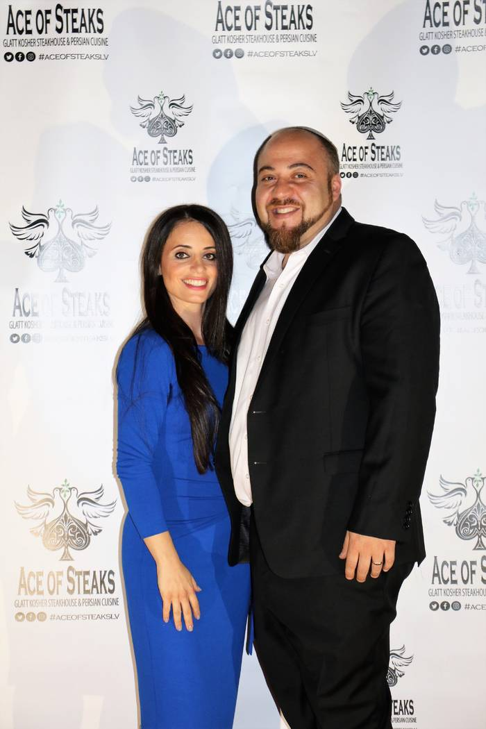 Ellie and Moshe Edison, co-owners of Ace of Steaks, a new kosher steakhouse and Persian restaurant in the southwest valley on Tuesday, Oct. 17, 2017. (Courtesy Ellie Edison)