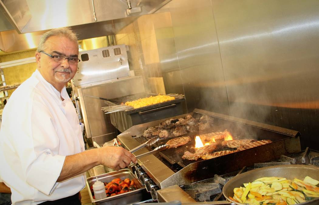 Chef George Kapetanakis at Ace of Steaks, a new kosher steakhouse and Persian restaurant in the southwest valley on Tuesday, Oct. 17, 2017. (Courtesy Ellie Edison)