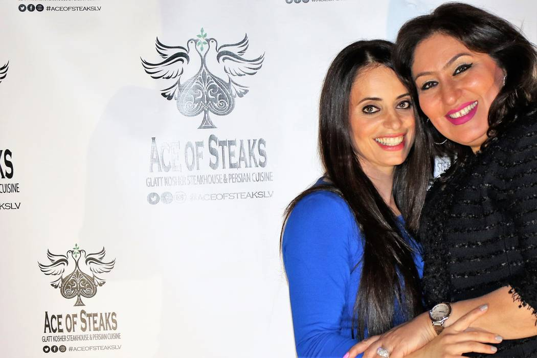 Ellie Edison and Diva Saghian co-owners of at Ace of Steaks, a new kosher steakhouse and Persian restaurant in the southwest valley on Tuesday, Oct. 17, 2017. (Courtesy Ellie Edison)