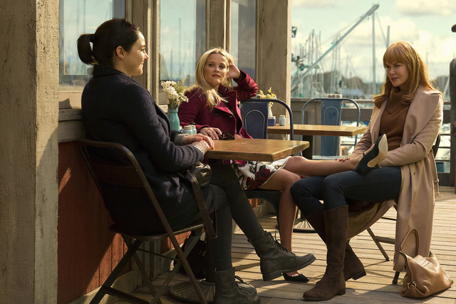 "From left, Shailene Woodley, Reese Witherspoon and Nicole Kidman star in HBO's ""Big Little Lies."" (Hilary Bronwyn Gayle/courtesy of HBO)"