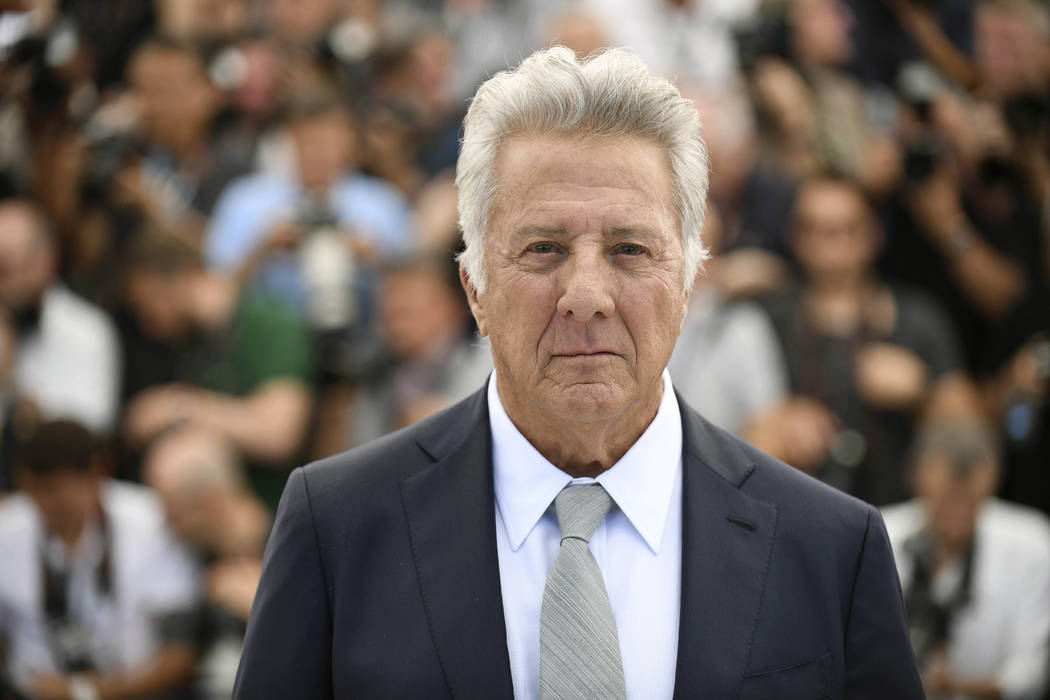"Actor Dustin Hoffman during the photo call for the film ""The Meyerowitz Stories"" at the 70th international film festival, Cannes, southern France on May 21, 2017. (Arthur Mola/Invision/AP)"