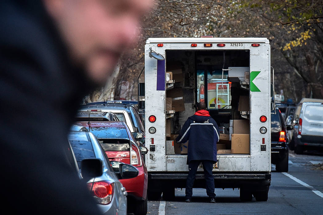 Roughly 35 percent of Americans say they have packages sent to an address other than their home to prevent theft, according to a survey by Shorr Packaging. Washington Post photo by Bill O'Leary.
