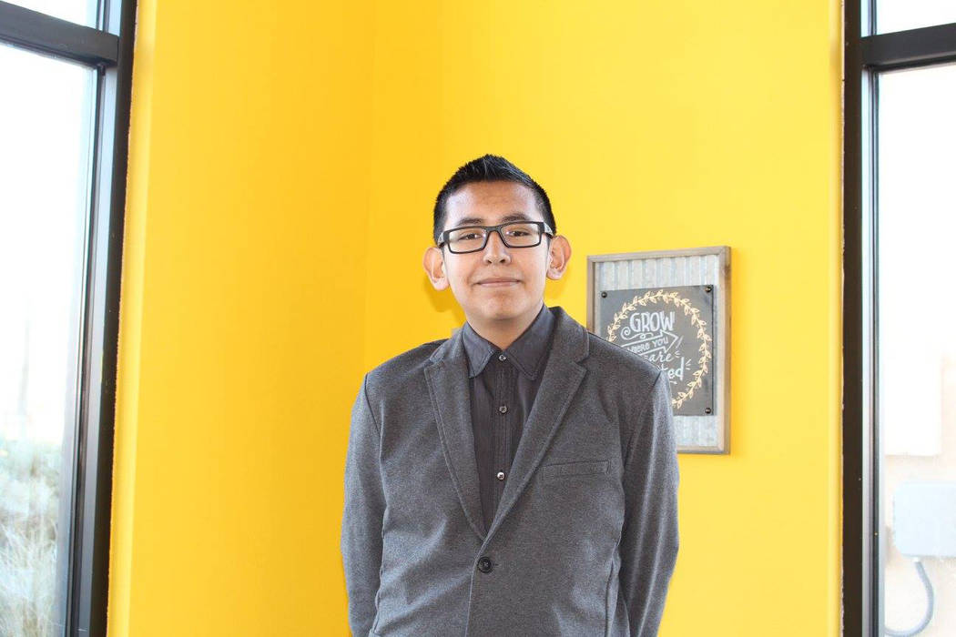 Jesse Cruz, a freshman at Canyon Springs High School, is hoping the experience through the local nonprofit Leaders in Training will help propel him to his goal of being Nevada's governor. Facebook