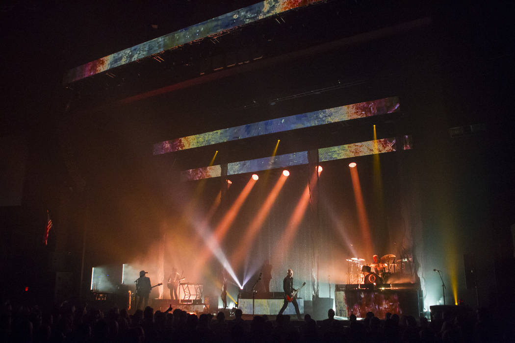 A Perfect Circle perform at the Pearl Concert Theater at the Palms hotel-casino in Las Vegas on Thursday, April 6, 2017. (Chase Stevens Las Vegas Review-Journal) @csstevensphoto