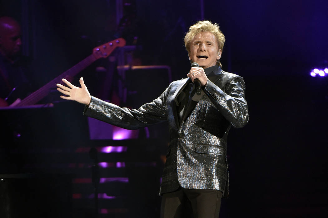 Barry Manilow performs at the Allstate Arena on Saturday, July 29, 2017, in Rosemont, Ill. (Photo by Rob Grabowski/Invision/AP)