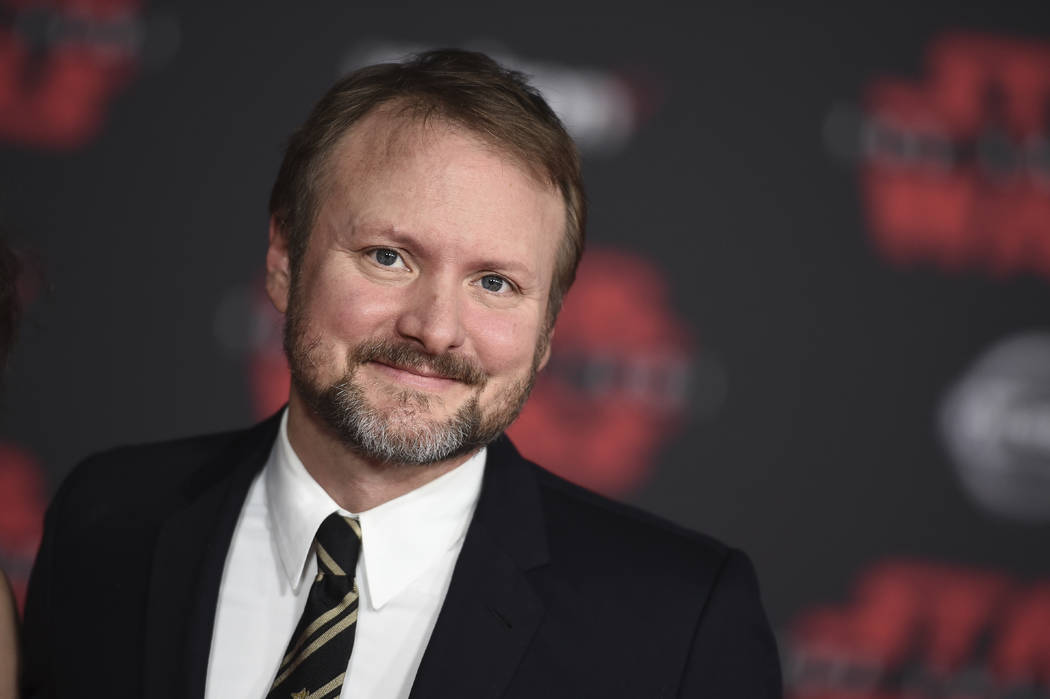 """Director Rian Johnson arrives at the Los Angeles premiere of """"Star Wars: The Last Jedi"""" at the Shrine Auditorium on Saturday, Dec. 9, 2017 in Los Angeles. (Photo by Jordan Straus ..."""