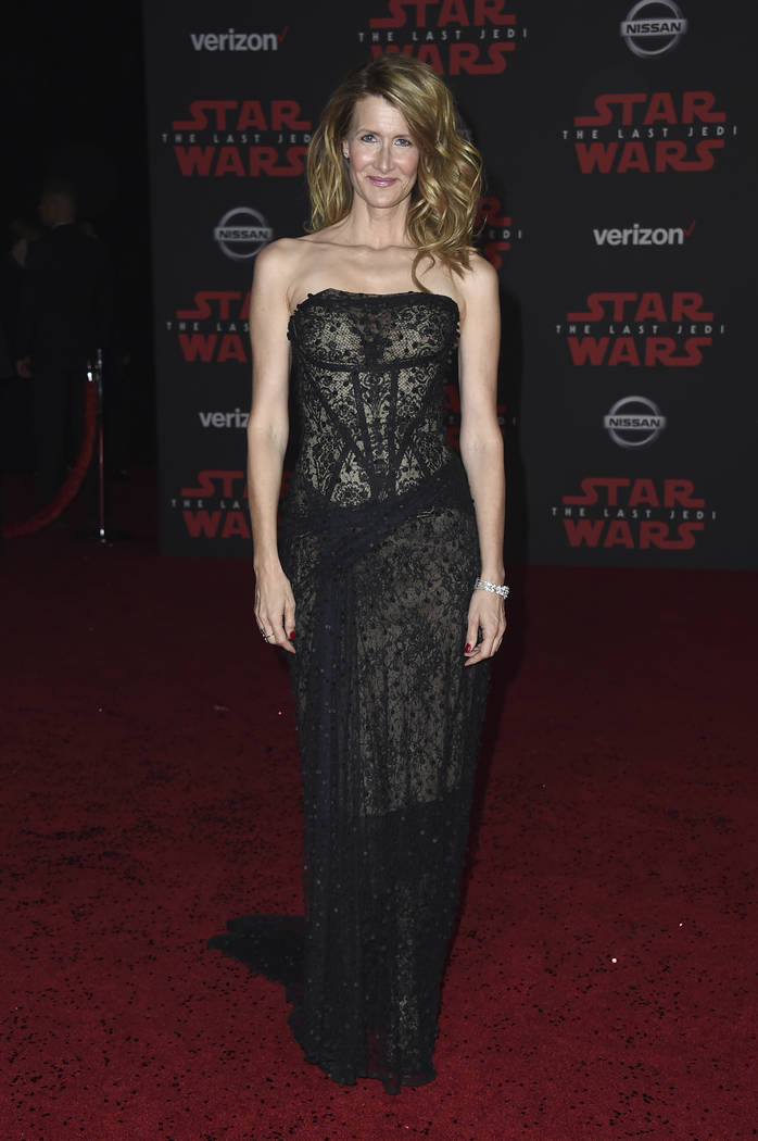 """Laura Dern arrives at the LA premiere of """"Star Wars: The Last Jedi"""" at the Shrine Auditorium on Saturday, Dec. 9, 2017, in Los Angeles. (Photo by Jordan Strauss/Invision/AP)"""