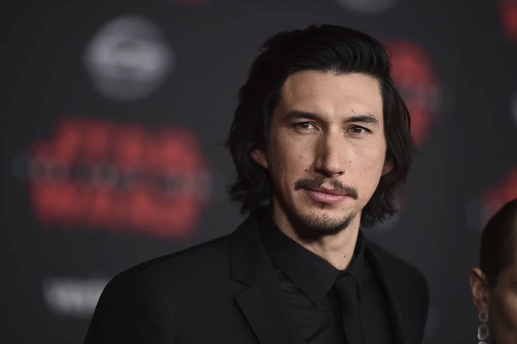 """Adam Driver arrives at the Los Angeles premiere of """"Star Wars: The Last Jedi"""" at the Shrine Auditorium on Saturday, Dec. 9, 2017, in Los Angeles. (Photo by Jordan Strauss/Invisio ..."""