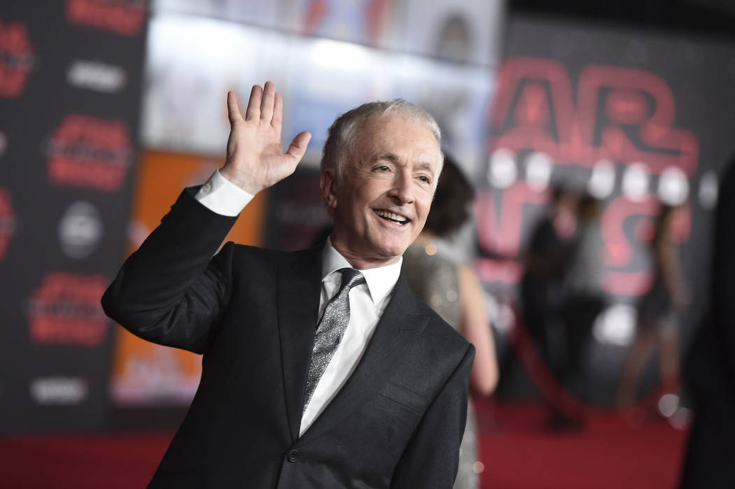 """Anthony Daniels arrives at the Los Angeles premiere of """"Star Wars: The Last Jedi"""" at the Shrine Auditorium on Saturday, Dec. 9, 2017, in Los Angeles. (Photo by Jordan Strauss/Inv ..."""