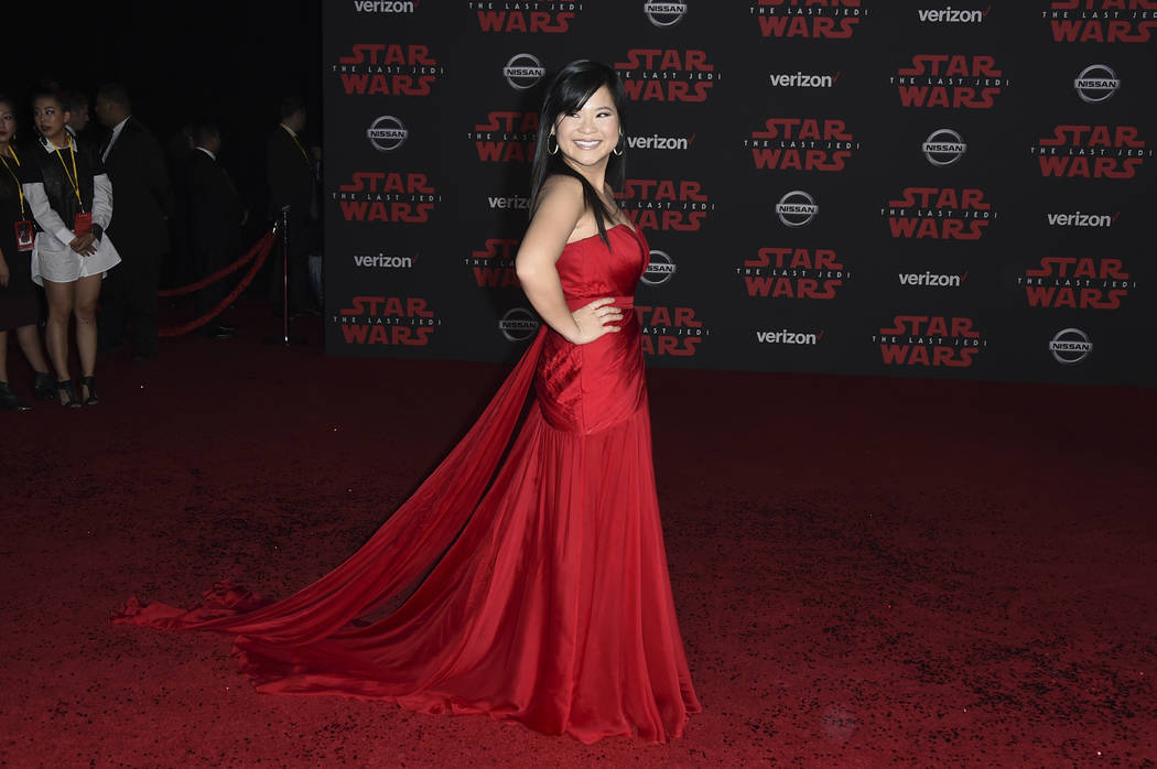 """Kelly Marie Tran arrives at the Los Angeles premiere of """"Star Wars: The Last Jedi"""" at the Shrine Auditorium on Saturday, Dec. 9, 2017 in Los Angeles. (Photo by Jordan Strauss/Inv ..."""